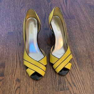 Seychelles yellow patent leather shoes